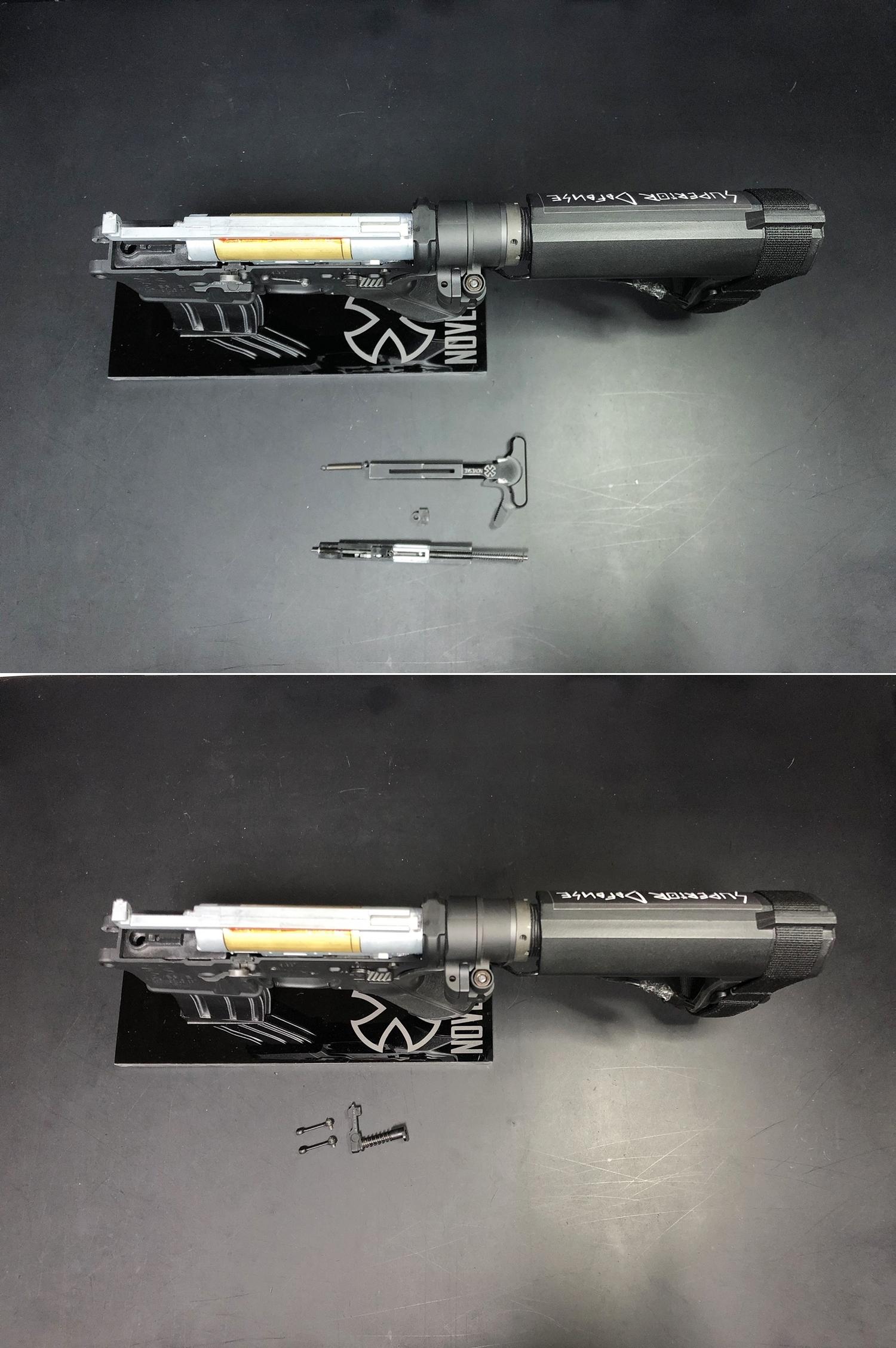 6 次世代 M4 CQB-R 簡易的修理で激的変化!! メカボックス 新品交換 & サマリウム・コバルトモーター カスタム!! メンテナンス 交換 修理 カスタム レビュー!!
