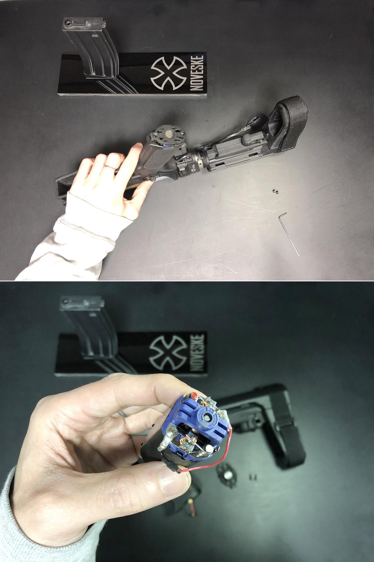 7 次世代 M4 CQB-R 簡易的修理で激的変化!! メカボックス 新品交換 & サマリウム・コバルトモーター カスタム!! メンテナンス 交換 修理 カスタム レビュー!!