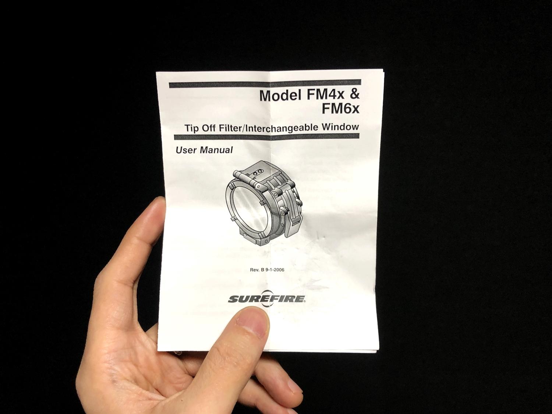 6 実物 SUREFIRE FM46 BLUE FILTER FM4X 1-37 BEZEL VAMPIRE M952V M900V IR