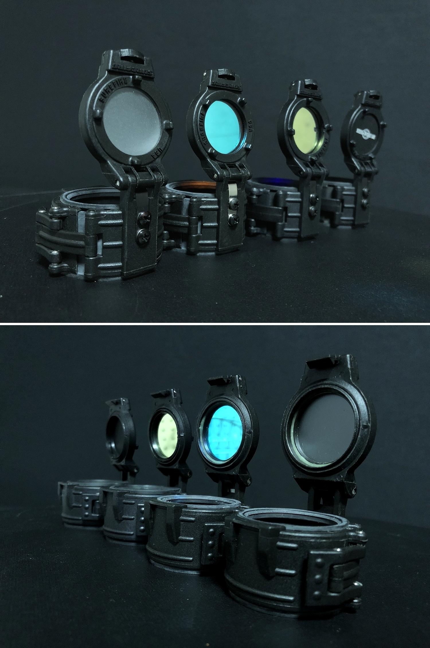 8 実物 SUREFIRE FM46 BLUE FILTER FM4X 1-37 BEZEL VAMPIRE M952V M900V IR
