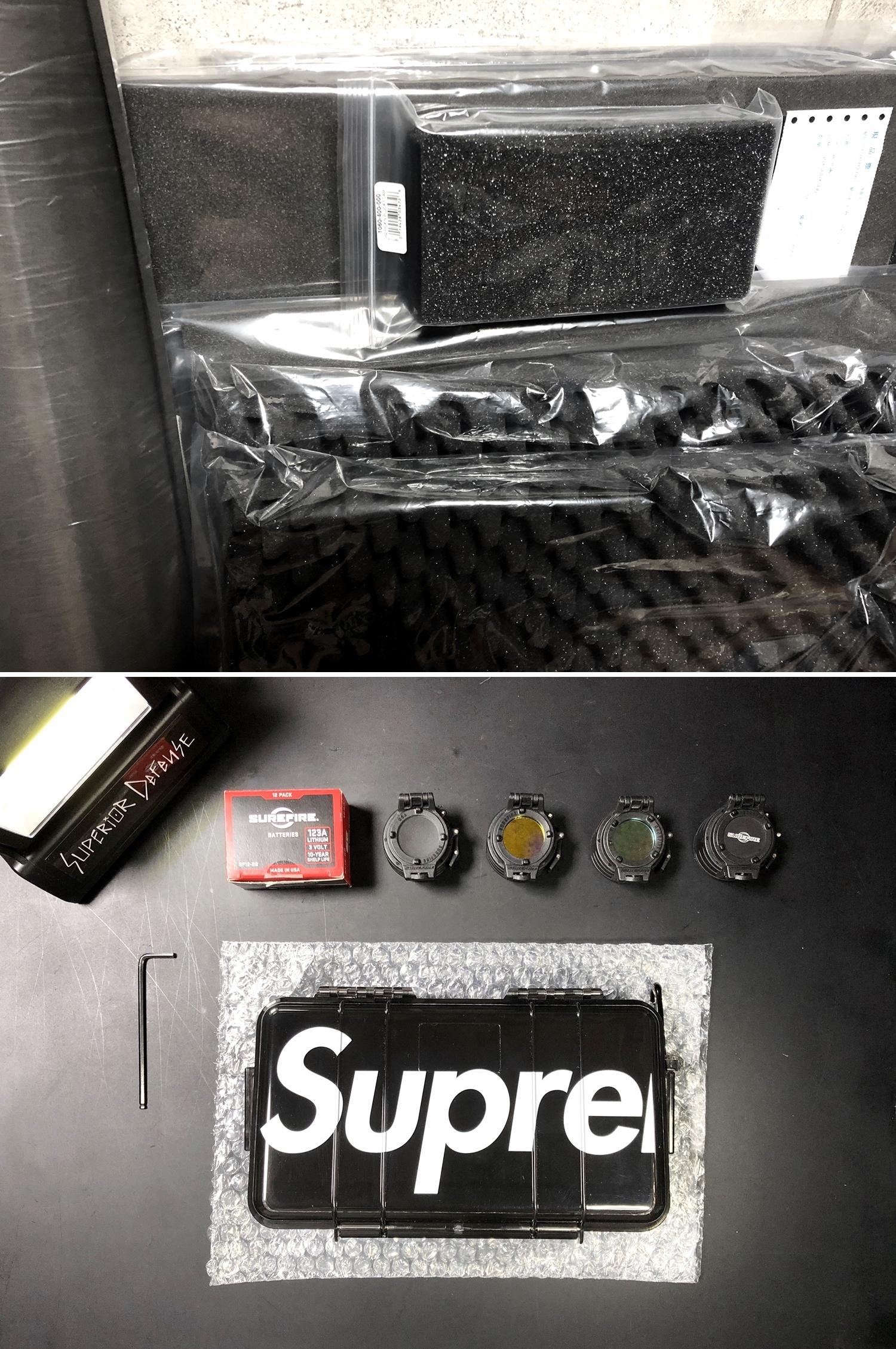 5 SUPREME × PELICAN 1060 CASE URETHANE FOAM DIY PROJECT CUSTOM シュアファイア シュプリーム ペリカン ハードケース ウレタンフォーム カスタム