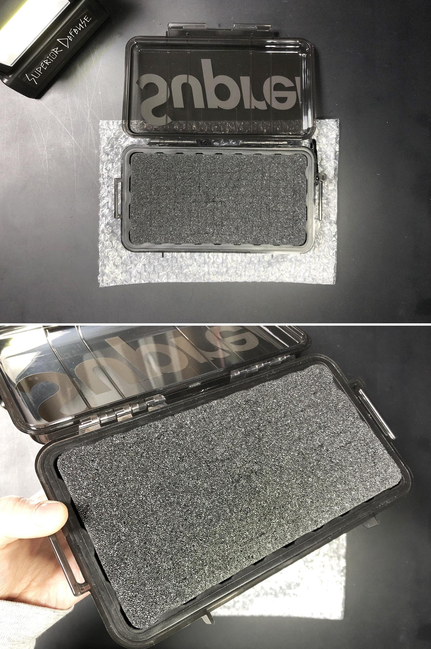8 SUPREME × PELICAN 1060 CASE URETHANE FOAM DIY PROJECT CUSTOM シュアファイア シュプリーム ペリカン ハードケース ウレタンフォーム カスタム