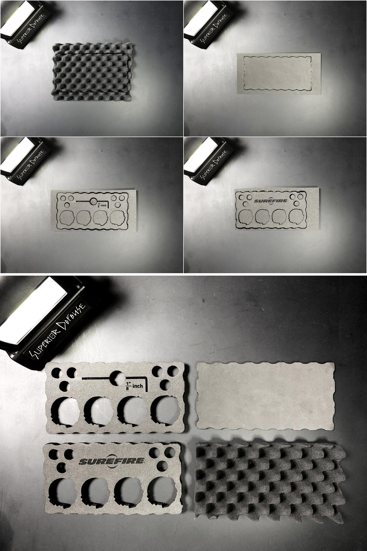 14 SUPREME × PELICAN 1060 CASE URETHANE FOAM DIY PROJECT CUSTOM シュアファイア シュプリーム ペリカン ハードケース ウレタンフォーム カスタム