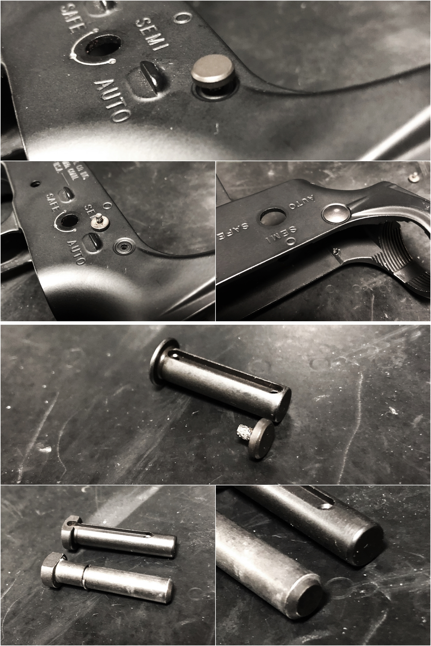 3 実物 NOVESKE AR-15 TAKEDOWN & PIVOT STEEL PIN!! 実物ピンを次世代M4へ対応させるべく簡易的DIY加工だ!ノベスケ ノベスキー スチール テイクダウン ピポッドピン! DIY 加工 カスタム 簡易的 旋盤加工 取付 レビ