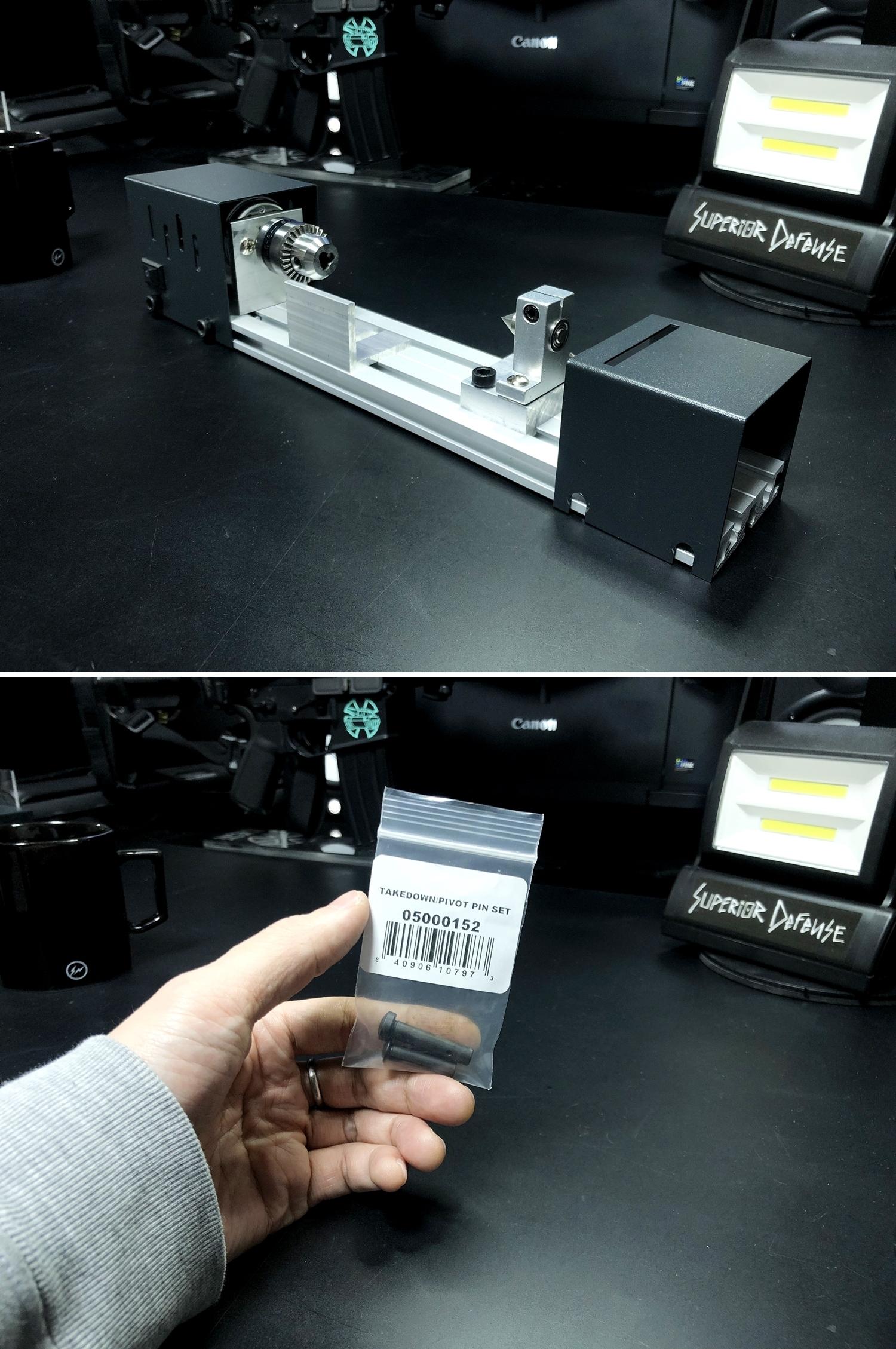 5 実物 NOVESKE AR-15 TAKEDOWN & PIVOT STEEL PIN!! 実物ピンを次世代M4へ対応させるべく簡易的DIY加工だ!ノベスケ ノベスキー スチール テイクダウン ピポッドピン! DIY 加工 カスタム 簡易的 旋盤加工 取付 レビ