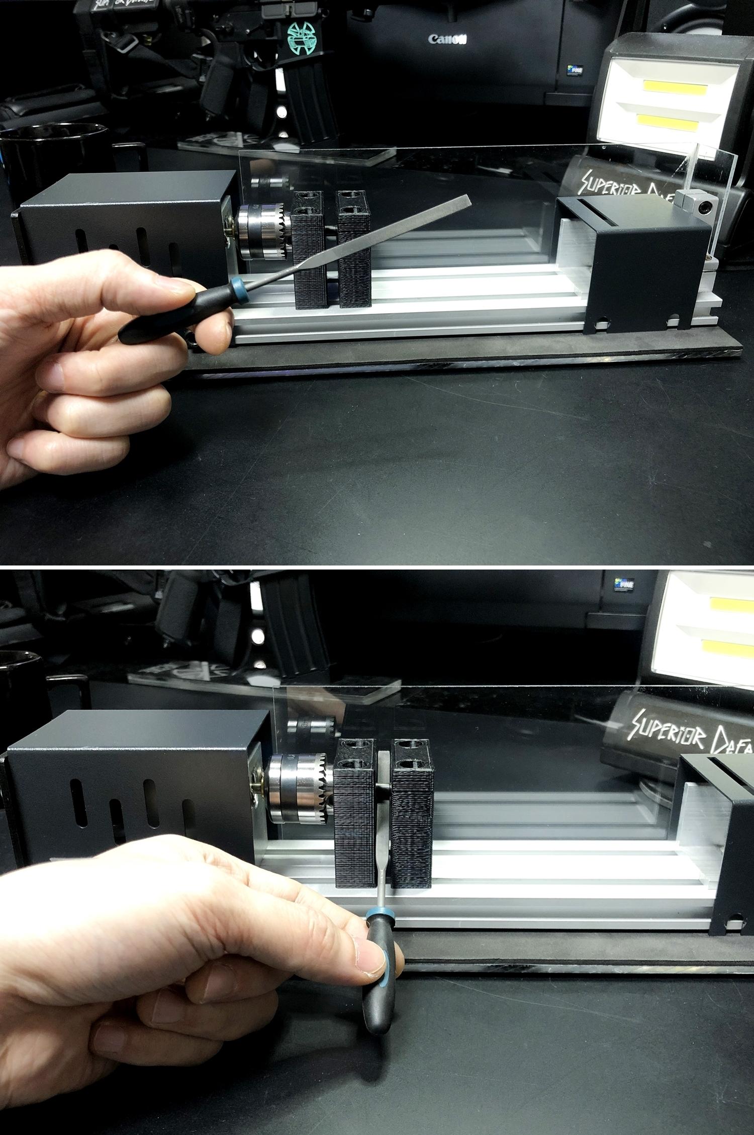 11 実物 NOVESKE AR-15 TAKEDOWN & PIVOT STEEL PIN!! 実物ピンを次世代M4へ対応させるべく簡易的DIY加工だ!ノベスケ ノベスキー スチール テイクダウン ピポッドピン! DIY 加工 カスタム 簡易的 旋盤加工 取付 レビ
