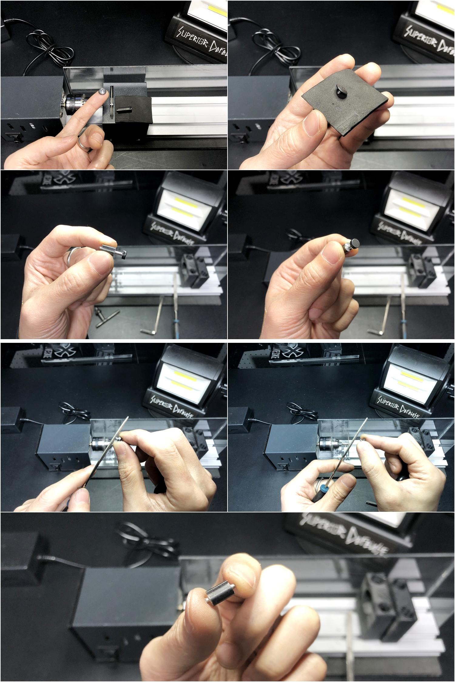 14 実物 NOVESKE AR-15 TAKEDOWN & PIVOT STEEL PIN!! 実物ピンを次世代M4へ対応させるべく簡易的DIY加工だ!ノベスケ ノベスキー スチール テイクダウン ピポッドピン! DIY 加工 カスタム 簡易的 旋盤加工 取付 レビ