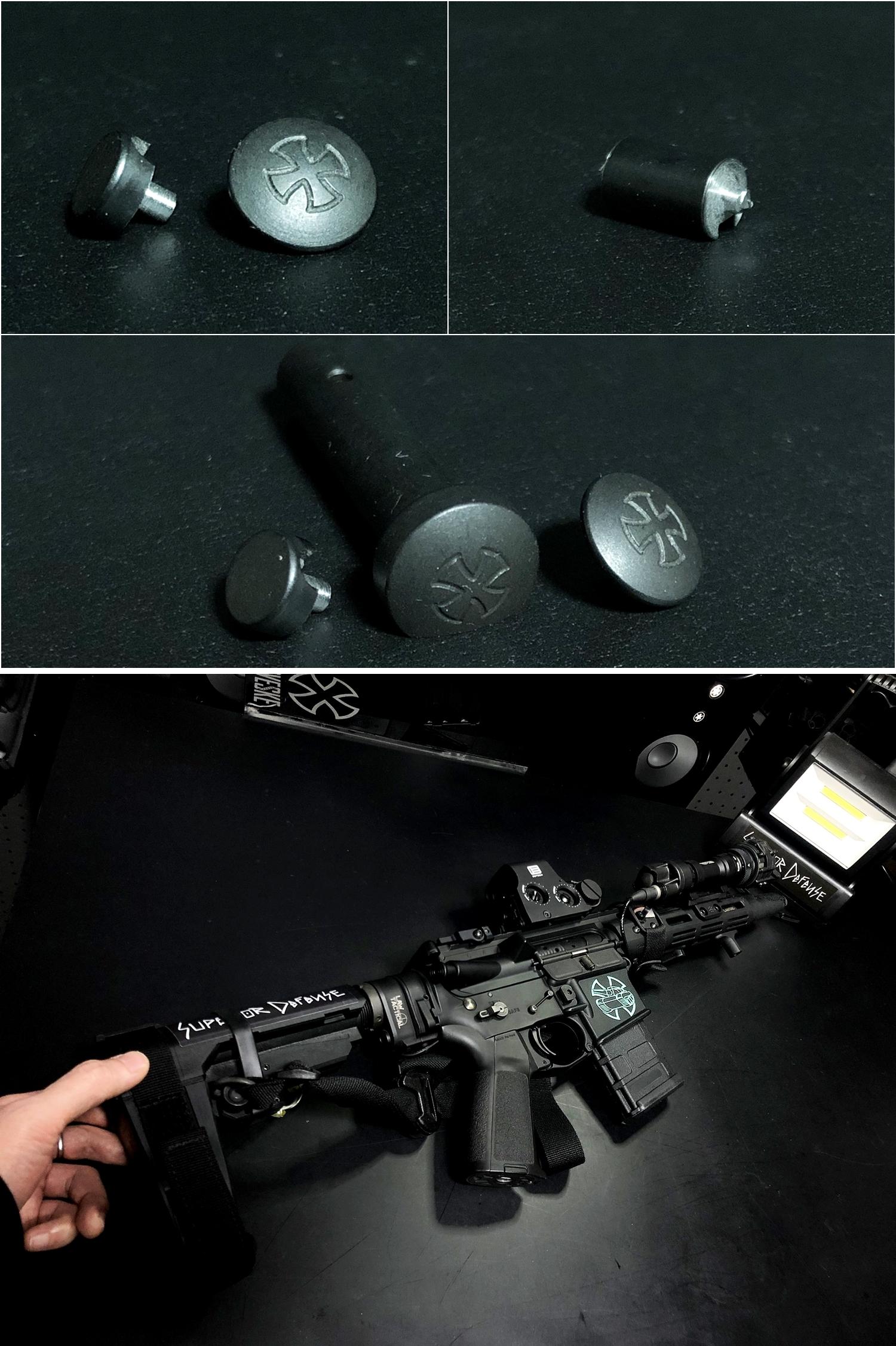15 実物 NOVESKE AR-15 TAKEDOWN & PIVOT STEEL PIN!! 実物ピンを次世代M4へ対応させるべく簡易的DIY加工だ!ノベスケ ノベスキー スチール テイクダウン ピポッドピン! DIY 加工 カスタム 簡易的 旋盤加工 取付 レビュー