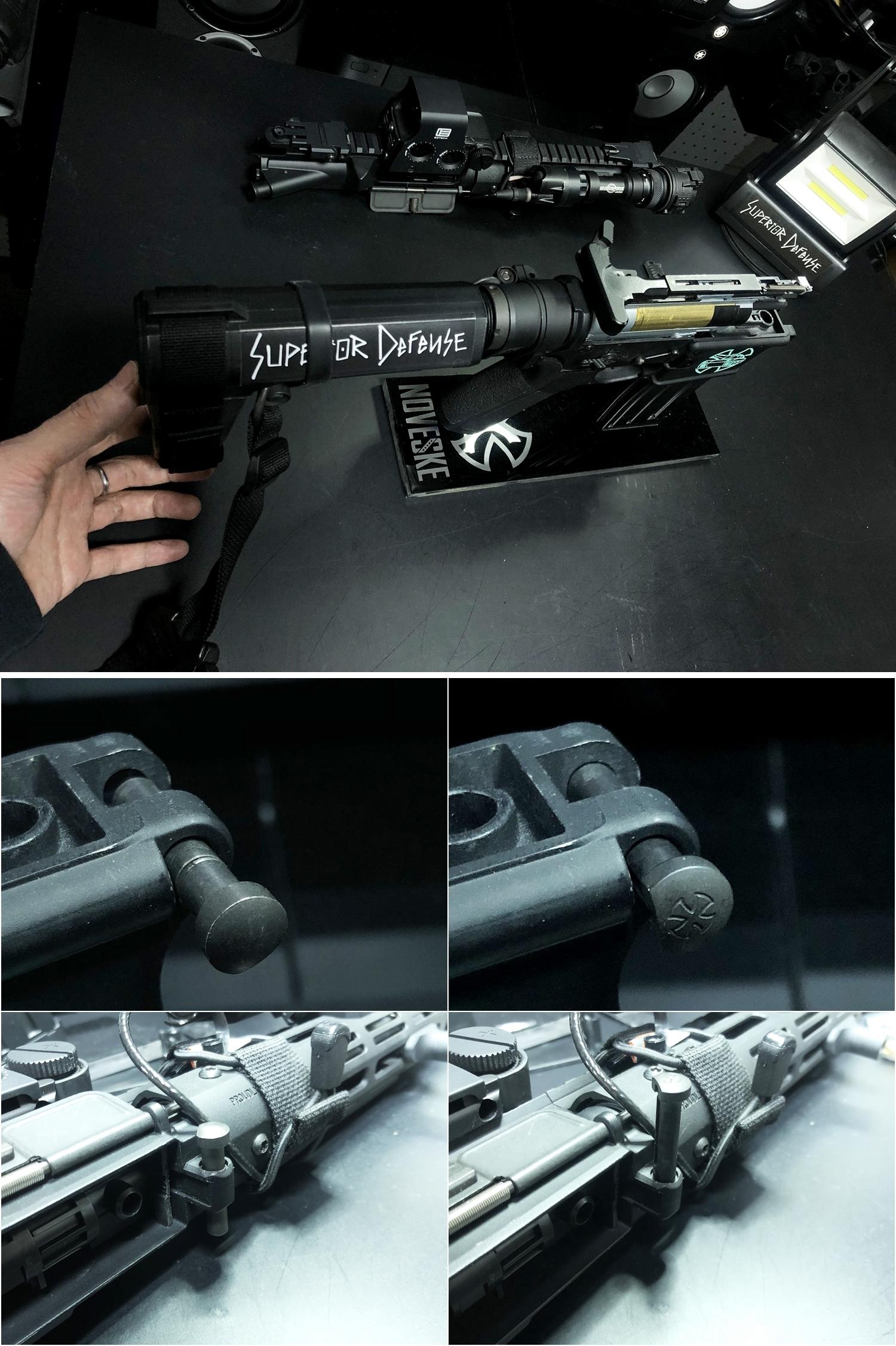 16 実物 NOVESKE AR-15 TAKEDOWN & PIVOT STEEL PIN!! 実物ピンを次世代M4へ対応させるべく簡易的DIY加工だ!ノベスケ ノベスキー スチール テイクダウン ピポッドピン! DIY 加工 カスタム 簡易的 旋盤加工 取付 レビ