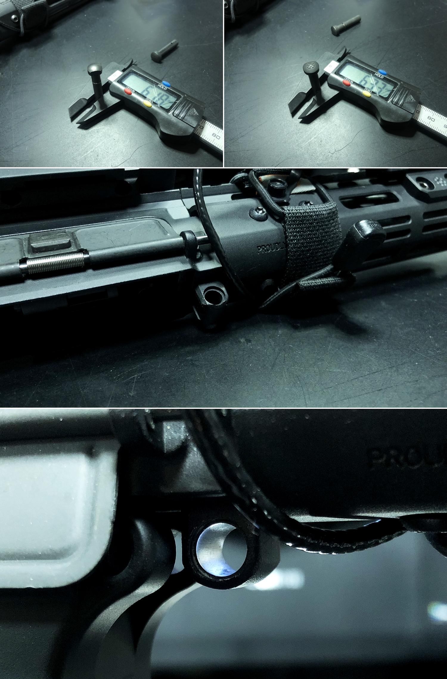 17 実物 NOVESKE AR-15 TAKEDOWN & PIVOT STEEL PIN!! 実物ピンを次世代M4へ対応させるべく簡易的DIY加工だ!ノベスケ ノベスキー スチール テイクダウン ピポッドピン! DIY 加工 カスタム 簡易的 旋盤加工 取付 レビ