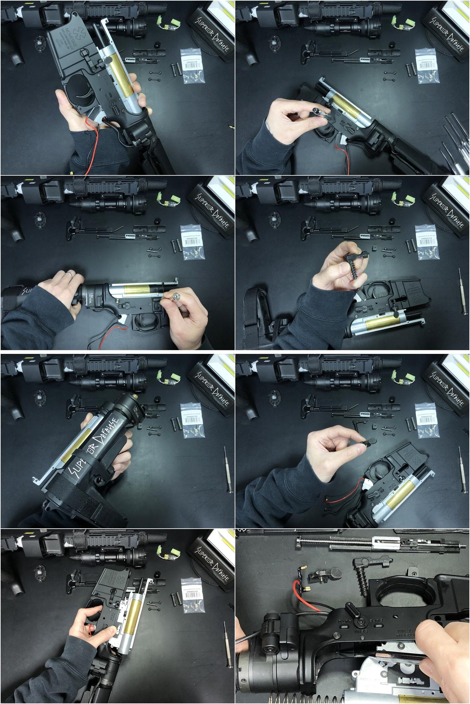 19 実物 NOVESKE AR-15 TAKEDOWN & PIVOT STEEL PIN!! 実物ピンを次世代M4へ対応させるべく簡易的DIY加工だ!ノベスケ ノベスキー スチール テイクダウン ピポッドピン! DIY 加工 カスタム 簡易的 旋盤加工 取付 レビ