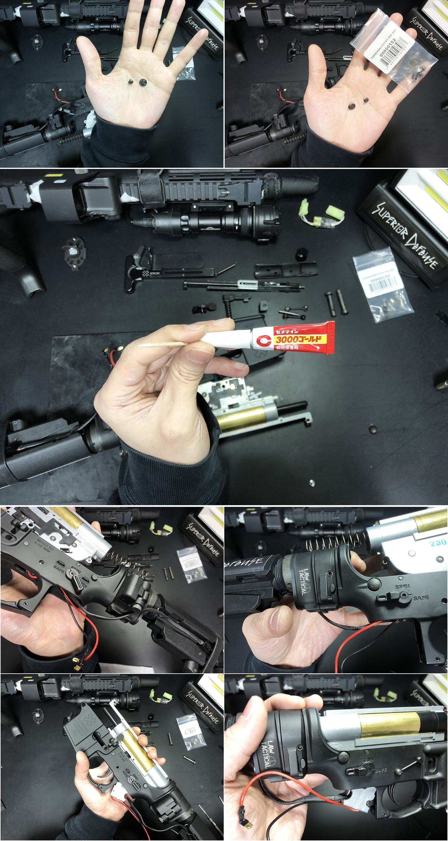 20 実物 NOVESKE AR-15 TAKEDOWN & PIVOT STEEL PIN!! 実物ピンを次世代M4へ対応させるべく簡易的DIY加工だ!ノベスケ ノベスキー スチール テイクダウン ピポッドピン! DIY 加工 カスタム 簡易的 旋盤加工 取付 レビ