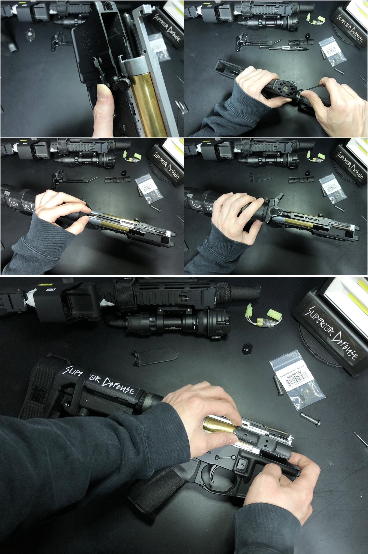 21 実物 NOVESKE AR-15 TAKEDOWN & PIVOT STEEL PIN!! 実物ピンを次世代M4へ対応させるべく簡易的DIY加工だ!ノベスケ ノベスキー スチール テイクダウン ピポッドピン! DIY 加工 カスタム 簡易的 旋盤加工 取付 レビ