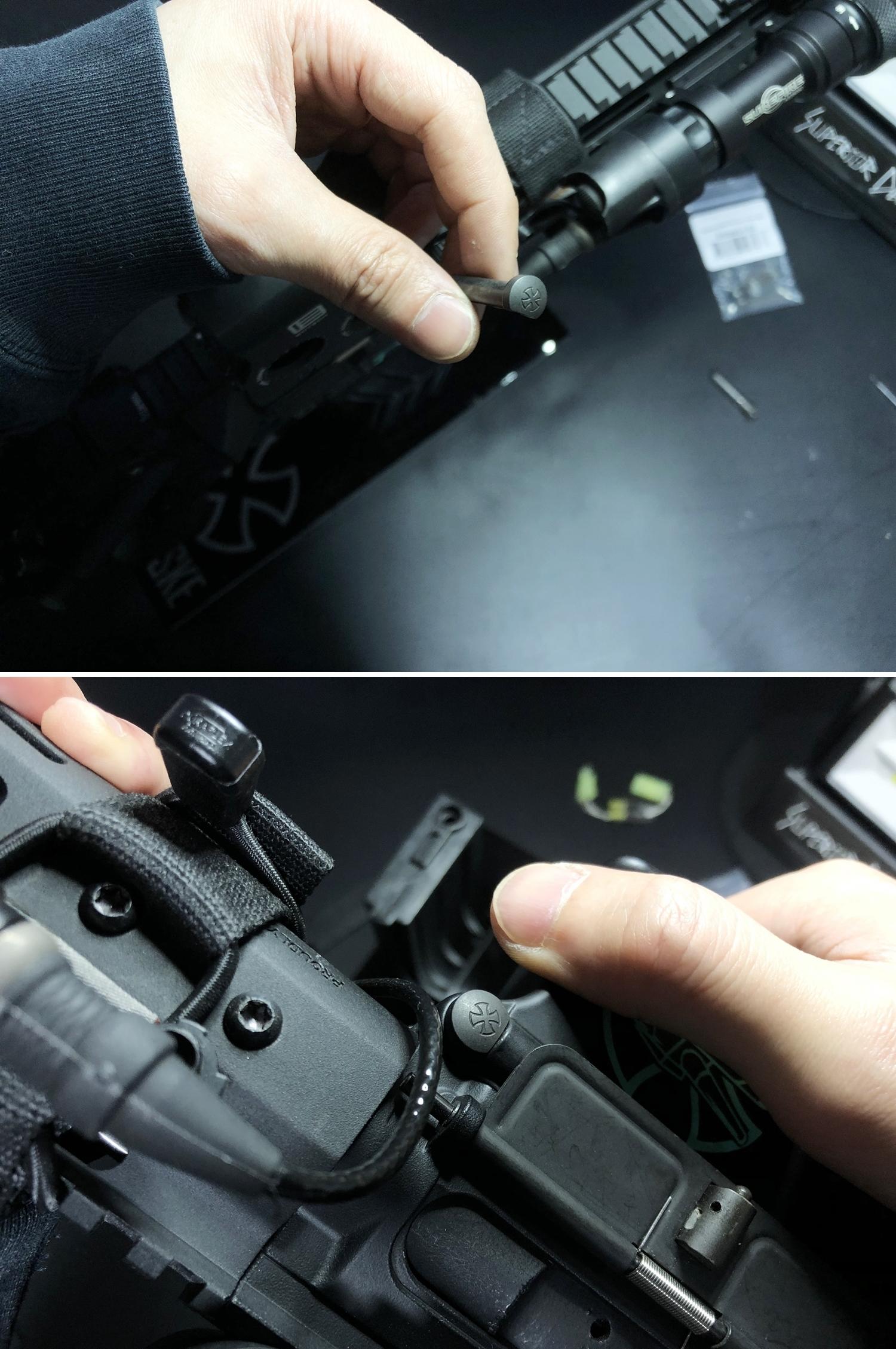 22 実物 NOVESKE AR-15 TAKEDOWN & PIVOT STEEL PIN!! 実物ピンを次世代M4へ対応させるべく簡易的DIY加工だ!ノベスケ ノベスキー スチール テイクダウン ピポッドピン! DIY 加工 カスタム 簡易的 旋盤加工 取付 レビ