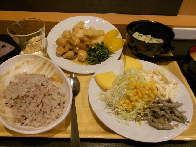 ホテル無料朝食雑穀米