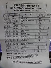第29回研修会入賞者
