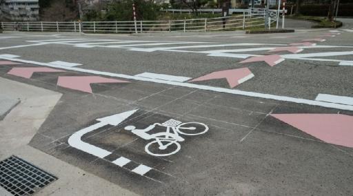 金大への自転車指導帯