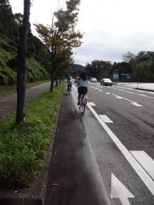 金大生の自転車通学