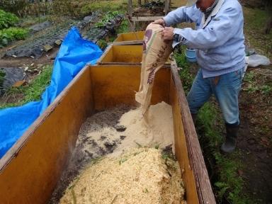 竹チップで肥料つくりも