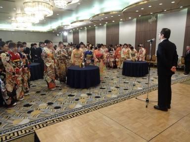 上田町連会長の祝辞