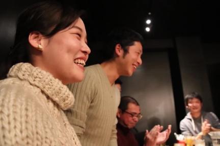 高井さんのお祝いも。素敵な奥さんです。