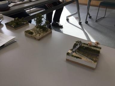 先生と学生が作った模型
