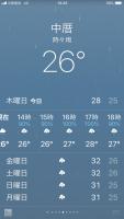 中壢は雨予報190905