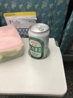 新幹線でビール191028