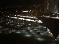 部屋からは高鐵新竹站が見える200128
