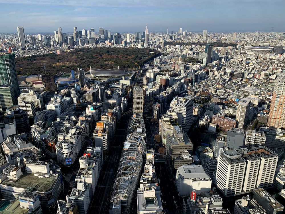 渋谷スクランブルスクエア屋上展望台(渋谷スカイ)より