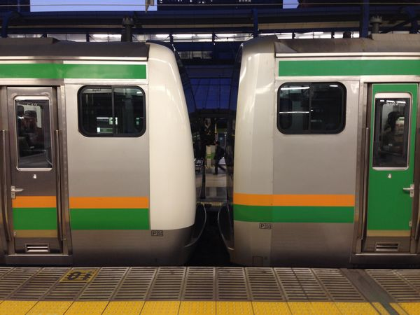 上野東京ライン開業後はE233系(左)とE231系(右)を連結した営業運転も見られるようになった。