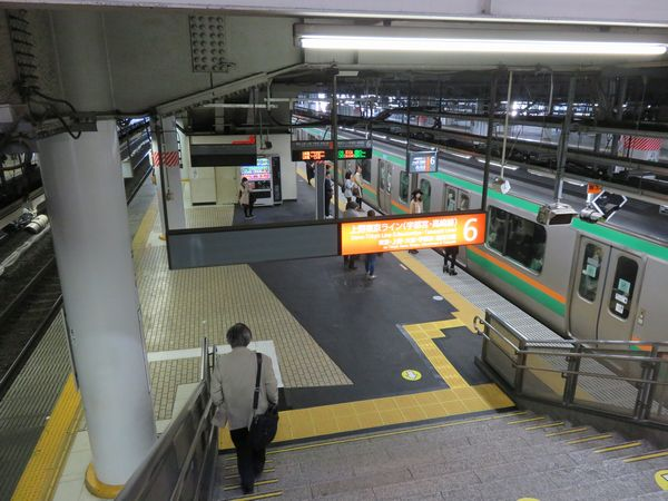 使用を再開した品川駅6番線