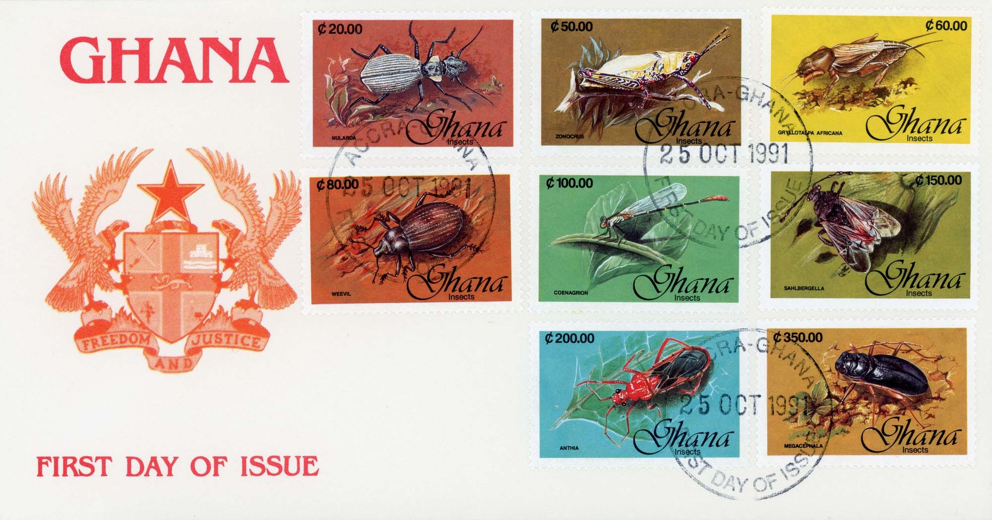 Accra:25-Oct-1991FDC-1