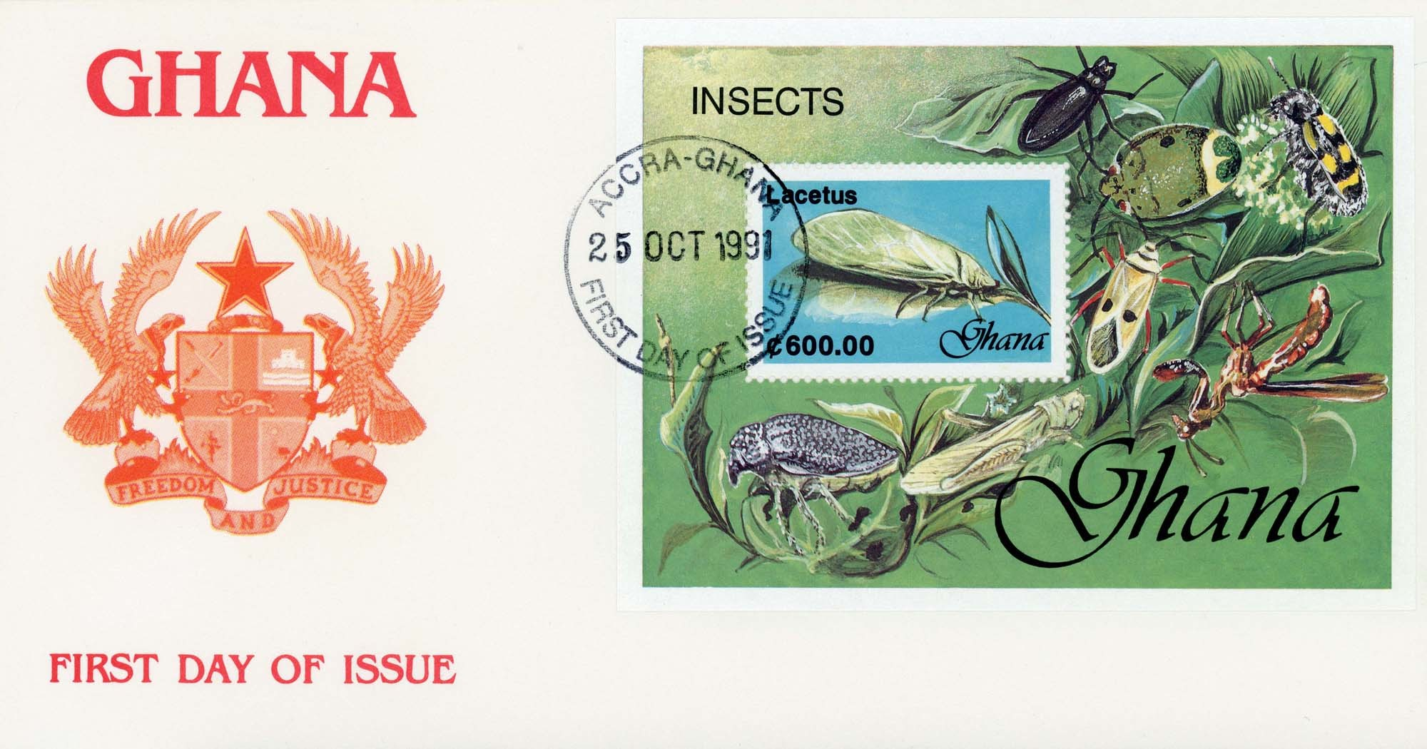 Accra:25-Oct-1991FDC-2