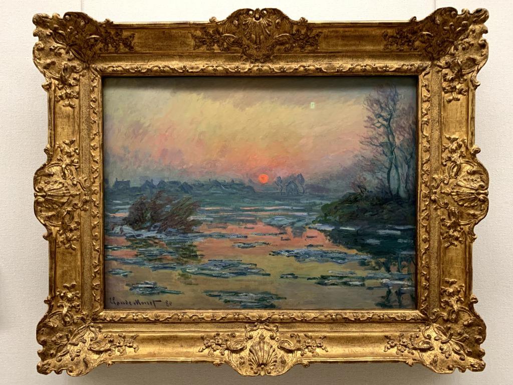 セーヌ河の日没