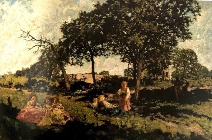 モンティセリ庭で遊ぶ子どもたち