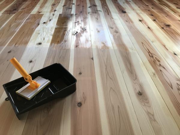 191223-杉の厚板塗装