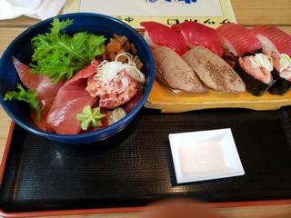 s招福丸のまぐろ三昧寿司とまぐろスペシャル丼