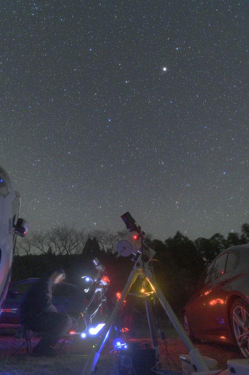 天体観測 2月 三連休 星仲間