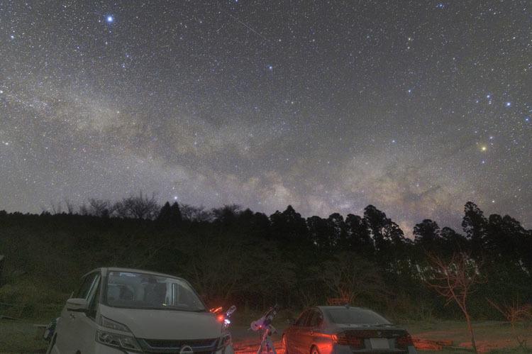 天体観測 2月 明け方 天の川