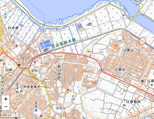 京成臼井地図