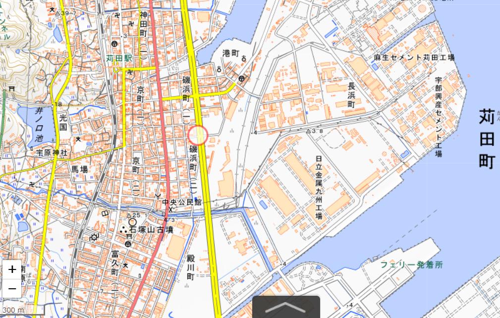 苅田駅地図