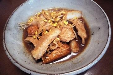 豚トロ生姜煮