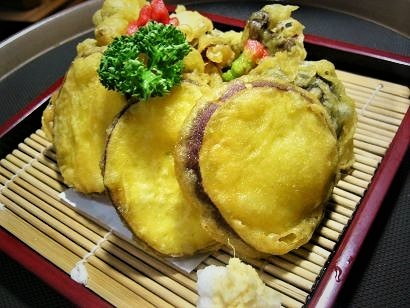 さつま芋とキノコの天ぷら小