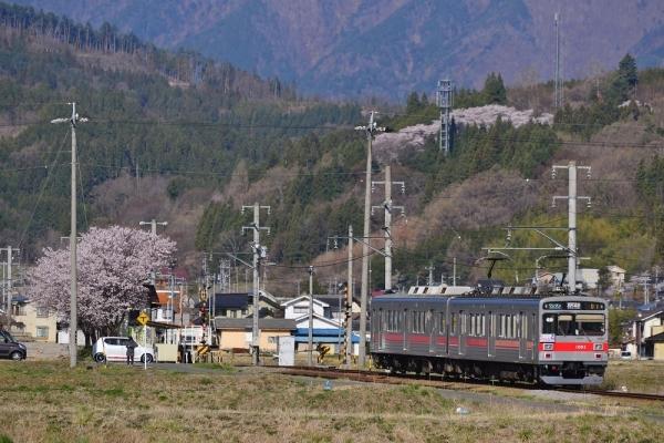 2019年4月20日 上田電鉄別所線 中野~舞田 1000系1001編成