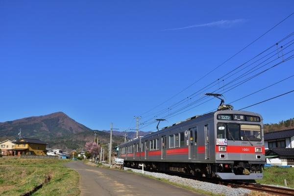 2019年4月20日 上田電鉄別所線 八木沢~舞田 1000系1001編成