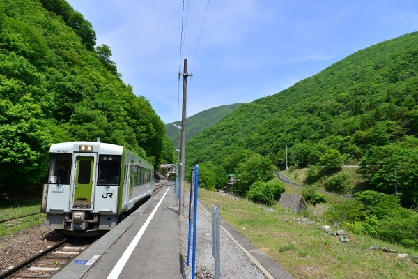 2019年5月26日 JR東日本釜石線 上有住 キハ100-23