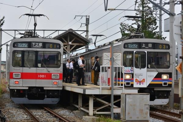 2019年6月1日 上田電鉄別所線 上田原 1000系1001編成/1003編成