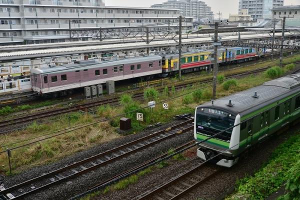 2019年7月3日 JR横浜線 長津田 マニ50 2186+東急デヤ7550+デヤ7500