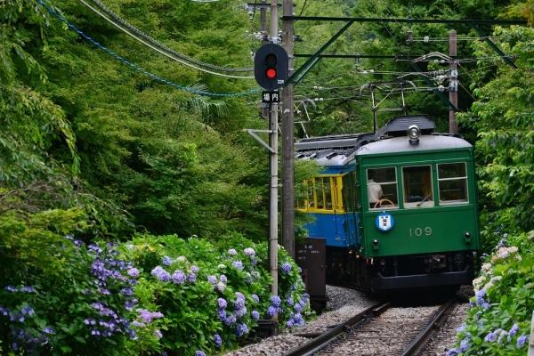 2019年7月12日 箱根登山鉄道線 上大平台(信)~大平台 モハ1形104-106+モハ2形109